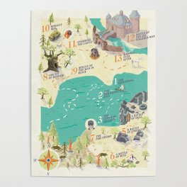 Princess Bride Discovery Map Poster