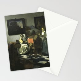 Stolen Art - The Concert by Johannes Vermeer Stationery Cards