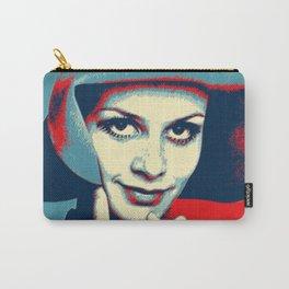 """Twiggy Pop Stencil Portrait"" Carry-All Pouch"