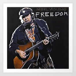 Rockin In The Free World Art Print