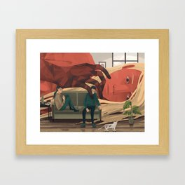 Interference Framed Art Print