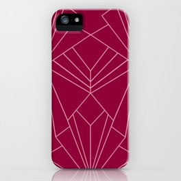 Art Deco in Raspberry Pink - Large Scale iPhone Case