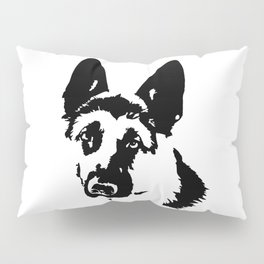 CHRISTMAS GIFTS FOR THE ALSATIAN AND GERMAN SHEPHERD DOG LOVER FOR YOU FROM MONOFACES Pillow Sham