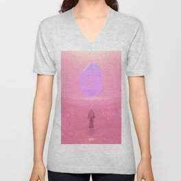 Lost Astronaut Series #03 - Floating Crystal Unisex V-Neck