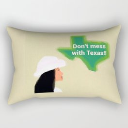 Don't Mess With Texas 1 Rectangular Pillow