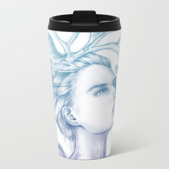Shadows of My Soul (A Portrait of a Life's Lingering Past) Metal Travel Mug