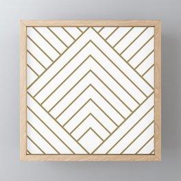 Diamond Series Pyramid Gold on White Framed Mini Art Print