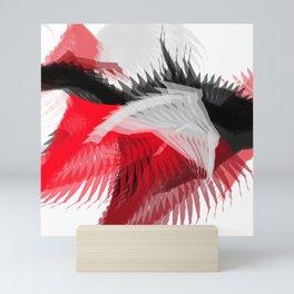 flying abstract digital painting Mini Art Print