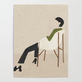 Eames Chair Woman Poster