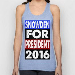 Snowden For President 2016 Unisex Tank Top