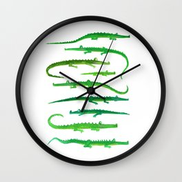 Family of Crocs Wall Clock