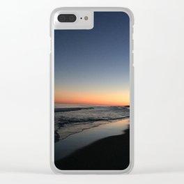 Main Beach Sunset Clear iPhone Case