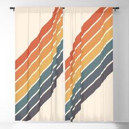 Arida -  70s Summer Style Retro Stripes Blackout Curtain