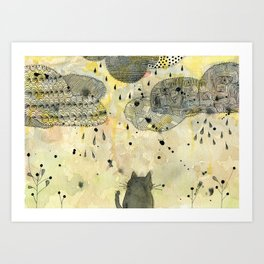 Watching the Clouds Art Print