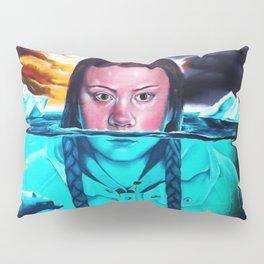 Greta Thunberg Climate Change Mural Bristol, England Pillow Sham