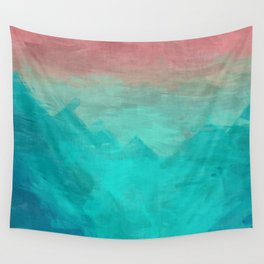 Sunset Over Lagoon Abstract Painting Wall Tapestry
