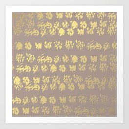 Golden Stripes Art Print