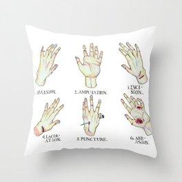 Open Wound Types Throw Pillow