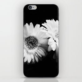 Flowers in Black and White - Nature Vintage Photography iPhone Skin