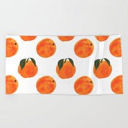 Peach Harvest Beach Towel