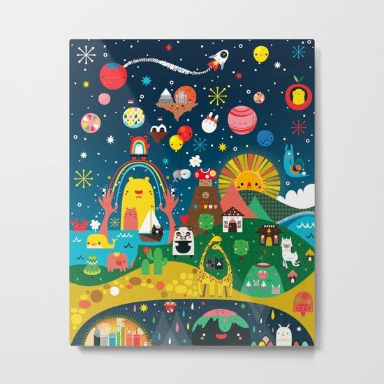 Super Mini Universe Print Metal Print