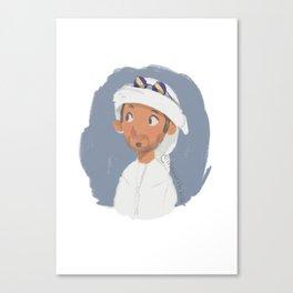 Young Emirati man wearing Hamdaniya Canvas Print