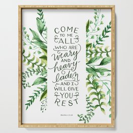 Come & Rest Serving Tray