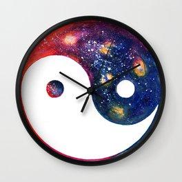 Yin Yang Symbol Watercolor Wall Clock