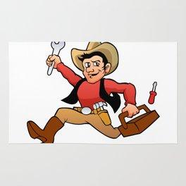 handyman cowboy. Rug