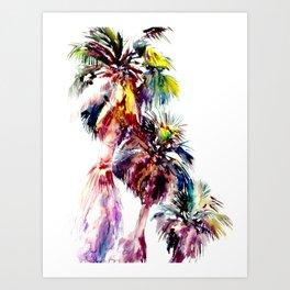 Desert Palm Trees, Southwestern tropical Palms Art Print