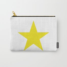 Yellow star on white Carry-All Pouch