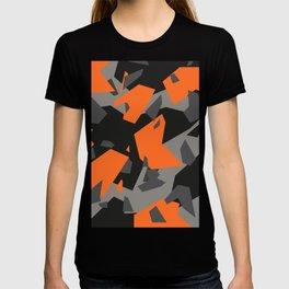 Black\Grey\Orange Geometric camo T-shirt