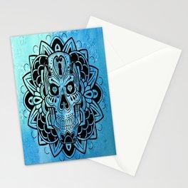 skull mandalla Stationery Cards