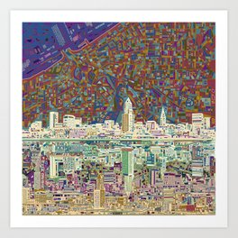 cleveland city skyline Art Print
