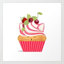 Pinkberry Cuppycat Art Print