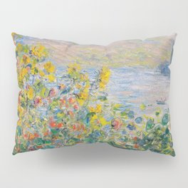 1881-Claude Monet-Flower Beds at Vétheuil-73 x 92 Pillow Sham