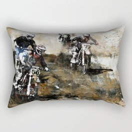 """Dare to Race"" Motocross Dirt-Bike Racers Rectangular Pillow"