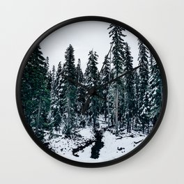 Dusting of Snow Wall Clock