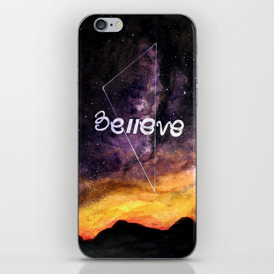 don't stop believing iPhone & iPod Skin
