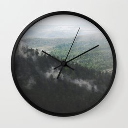 Clouds in the forest Wall Clock
