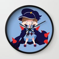kill la kill Wall Clocks featuring Kill la Kill - Mako Mankanshoku 2 star by Nilly