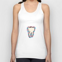 tooth Tank Tops featuring Tooth by Constance Macé
