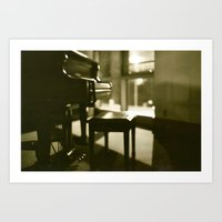 piano Art Prints featuring Piano by Chris Klemens