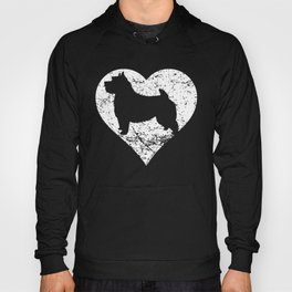 Distressed Norwich Terrier Heart Dog Owner Graphic Hoody