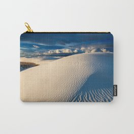 USA White Sands National Monument New Mexico Blue Dunes Desert Nature Sand Carry-All Pouch