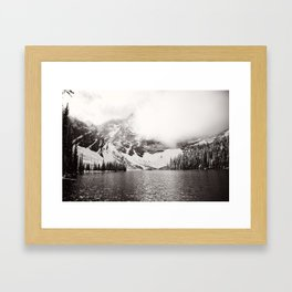 Wild Winter (B&W) Framed Art Print