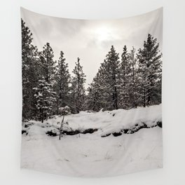 trees in the snow Wall Tapestry