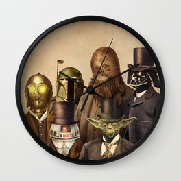 Victorian Wars (square format) Wall Clock