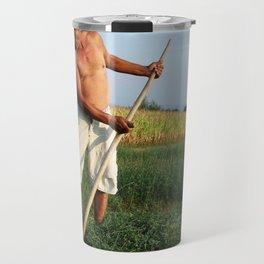 Farmer in Fields Travel Mug
