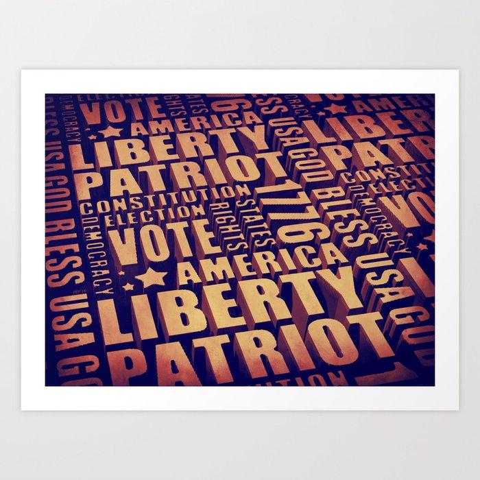 Patriotic Typography Art Print